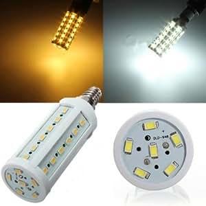 E14 11W 5630 SMD 44 LED Corn Light Bulb Lamps Energy Saving 110V --- Color:warm white