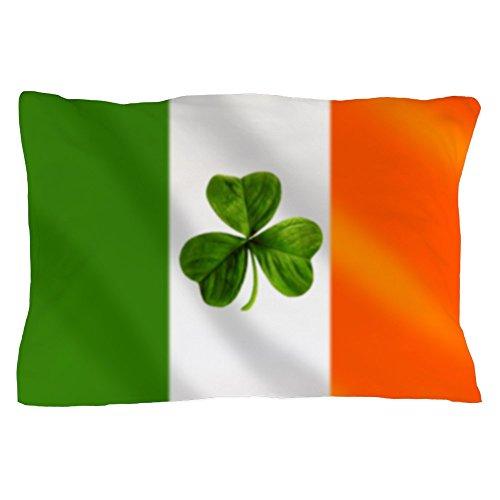 CafePress Irish Shamrock Flag Pillow Case Standard Size Pillow Case, 20