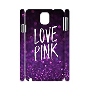 Love Pink DIY 3D Durable Case for Samsung Galaxy Note3 N9000,Love Pink custom 3d case
