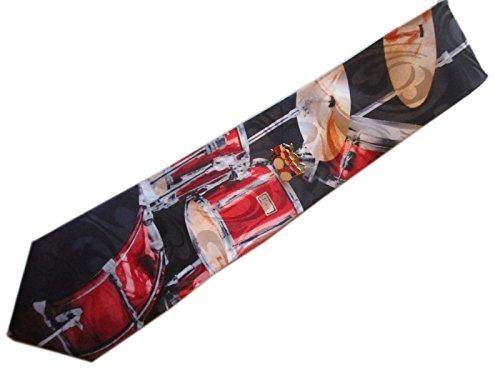 music-neck-tie-lapel-pin-tie-tack-set-drum