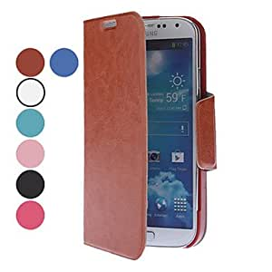 Exquisite Design PU Leather Case with Stand for Samsung Galaxy S4 I9500 (Assorted Colors) - COLOR#White