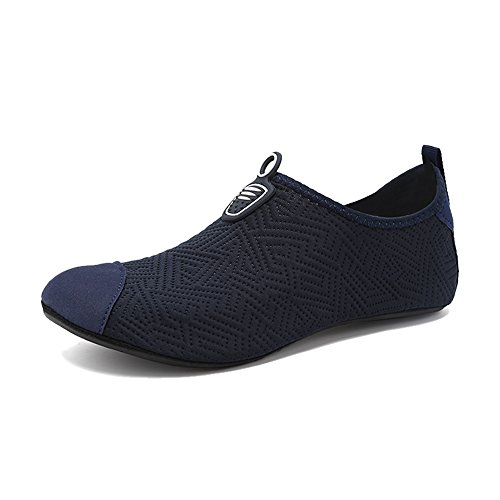 Water Aqua Kids Men's Barefoot On BlanKey Sport Shoes for Blue Dark Exercises Quick Women's Slip Drying Water EtpE7wq