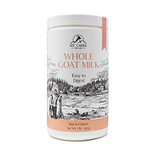 MT. CAPRA SINCE 1928 CapraMilk (Whole) | A Whole Goat Milk Powder, Easy to Digest – 1 Pound