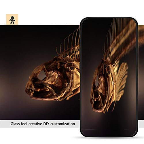 iPhone 7p / 8p Ultra-Thin Phone case Dried Boned Fish Skeleton Resistance to Falling, Non-Slip, Soft, Convenient Protective case ()