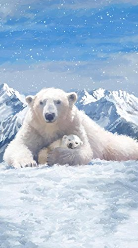 Polar Frost Polar Bear Panel Flannel Northcott Fabric F21231-44 -