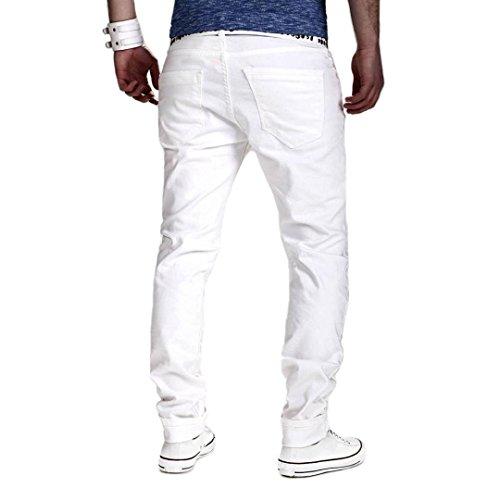overdose Hiver Jean Noir Pantalons Vintage Blanc Automne Déchiré Skinny Délavé Casual Homme Jeans Trousers Slim qXtw1ZPt