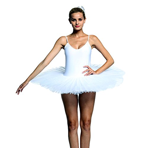 KAI-ROAD Ballet Leotards with Hard Tutu for Women Ballet Dance Costume with Built-in Panty (XXX-Large)]()