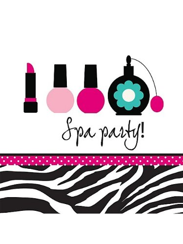 Creative Converting Pink Zebra Boutique Spa Party Lunch Napkins, 16 Count, Health Care Stuffs