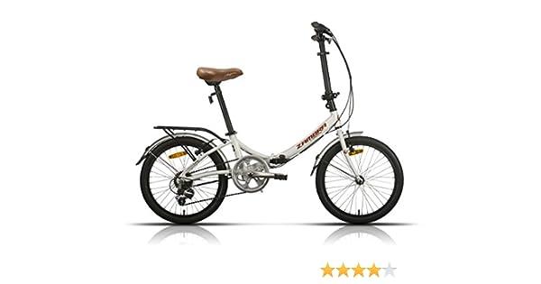 Megamo Zambra Bicicleta Plegable de Paseo, Unisex Adulto, Blanco ...