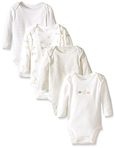 Carter's Unisex Baby 4 Pack Bodysuits (Baby)