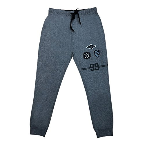 Akademiks Men's Ankle Cuffed Elastic Waistband Side Pockets Fitted Comfy Lounge Hangout Sleep Pajama Sweat Pants for Men by Akademiks