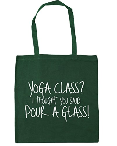 Gym Green Yoga x38cm Shopping HippoWarehouse You a Class Thought Bag I Said Glass Tote litres 42cm Beach Bottle Pour 10 RnnfSHP