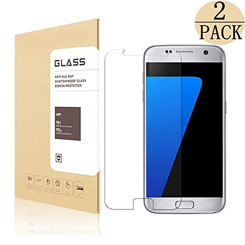 Samsung Galaxy S7 Tempered Glass Screen Protector, sprayors [9H Hardness][Anti-Scratch][Ultra-Clear][Bubble Free][Anti-Fingerprint]Screen Protector for Galaxy S7 - 2 Pack