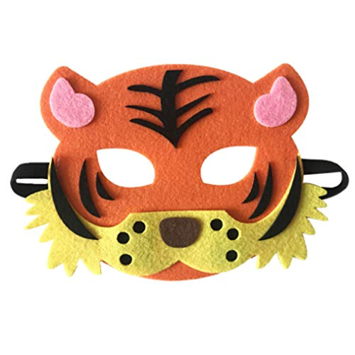Cartoon Animals Half Face Kids Mask Children's Day Birthday Dress Up Costume Mask Zoo Jungle Party Supplies