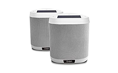 ION Audio Keystone   Mountable Wireless Solar-Rechargeable Outdoor Stereo Speakers with Remote Control (Pair) by Ion Audio - MI