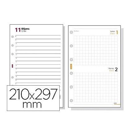 Recambio agenda finocam 4000 anualidad dia pagina 210x297 mm ...
