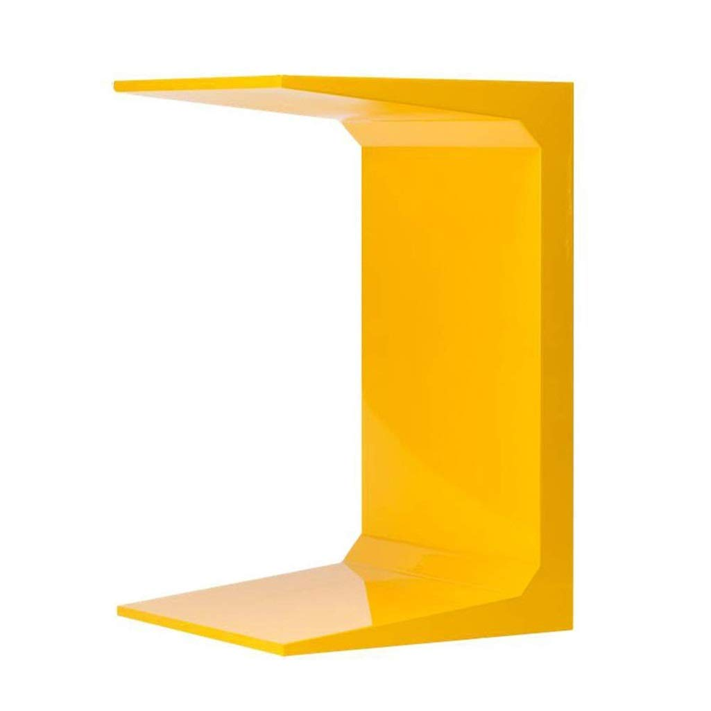 WDOPZMS Modern Minimalist Removable Solid Wood Sofa Side Table Small Space Multi-Function C-Shaped Coffee Table Living Room Bedroom Balcony Office End Table (Color : Yellow) by WDOPZMS