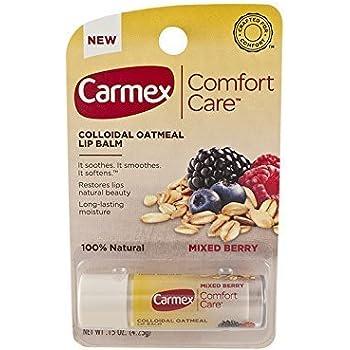 Carmex Comfort Care Colloidal Oatmeal Lip Balm - Mixed Berry