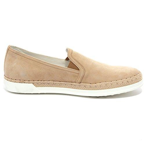 TOD'S Nudo suede beige RAFIA B1527 woman donna on scarpa slip GOMMA shoe Scuro PANTOFOLA qxwI7fwg8