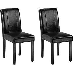 AmazonBasics Padded Dining Chair - Set of 2, Black