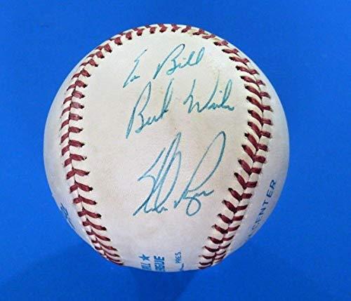 Ball Nolan Ryan (Signed Nolan Ryan Ball - Roa toning) ~ V15548 - JSA Certified - Autographed Baseballs)
