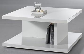 Couchtisch Weiss Hochglanz Quadratisch 70x70 Cm Amazon De Kuche