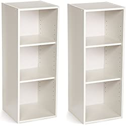 ClosetMaid Stackable 3-Shelf Organizer, White, 2-Pack
