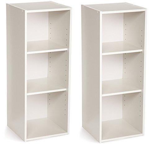 ClosetMaid 8987 Stackable 3-Shelf Organizer, White, 2-Pack by ClosetMaid (Image #1)