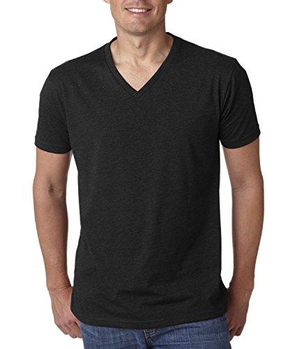Next Level NL6240 Mens 60% Cotton / 40% Polyester CVC V-Neck Tee - Black - XL (Cvc Tee V-neck)