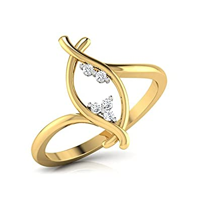 740e8512d317e Buy CaratLane 18k Yellow Gold and Diamond Ring Online at Low Prices ...