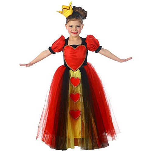 Princess Queen of Hearts Child Costume - (Girls Red Heart Princess Costumes)