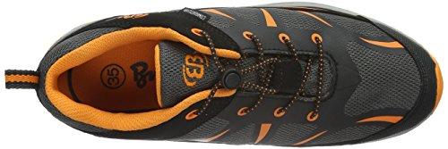 EB kids Range, Zapatos de Low Rise Senderismo Unisex Niños Gris (GRAU/SCHWARZ/ORANGE)