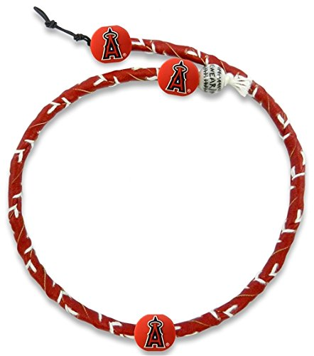 (MLB Los Angeles Angels Team Color Frozen Rope Baseball Necklace)