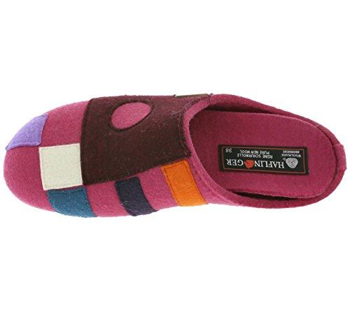 Haflinger Carmen 483064 Damenschuhe Hausschuhe Pantoffeln Clogs Violett