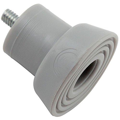 National Door - National Hardware N225-557 V238TS Door Stop Tips in Gray, 2 pack