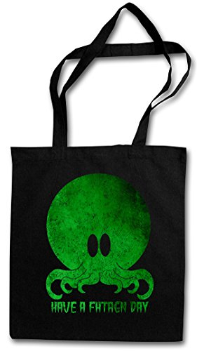 CTHULHU HAVE A FHTAGN DAY Hipster Bag Beutel Stofftasche Einkaufstasche