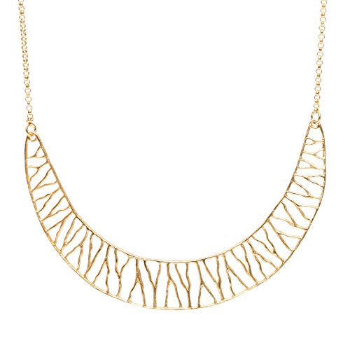 Coral Branch Collar Necklace (24k Gold-Plated) by Mercedes Shaffer