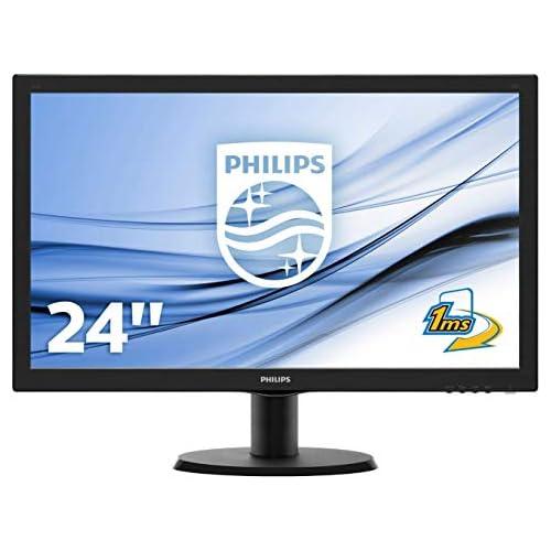 chollos oferta descuentos barato Philips 243V5LHSB 00 Monitor de 24 Full HD 1920 x 1080 pixels VESA 1 ms VGA Conexión HDMI sin altavoces