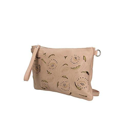 main Borse cuir en à fabriqué Sac Rose Femme Petit Italie 29x18x2 véritable Clutch en Cm Chicca 1FUqU