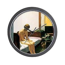 CafePress Edward Hopper Hotel Room Unique Decorative 10 Wall Clock