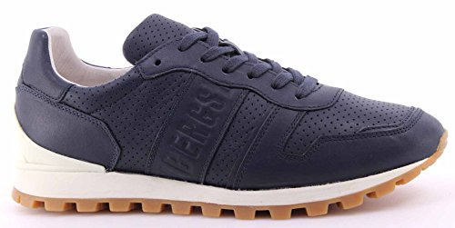 Zapatos Hombres Sneakers BIKKEMBERGS BKE108742 Numb Leather Blue Piel Azul Nuevo