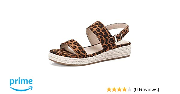a552ce4b59f3 Amazon.com | CAMEL CROWN Women's Leopard Espadrille Sandals Platform Wedge  Sandal Summer Comfortable Open Toe Ankle Strap Shoes | Platforms & Wedges