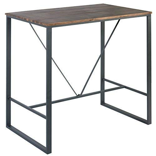 Mesa alta restaurante en metal y madera Cove: Amazon.es ...
