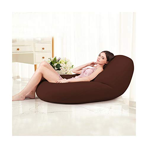 Nwn Zero Gravity Lazy Couch Bean Bag Bedroom Living Room Single Chair net red Room Small Apartment Tatami (Color : Brown, Size : L) from Nwn