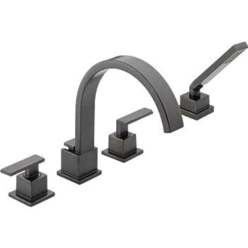 Delta Faucet T4753 Rb Vero Roman Tub With Handshower Trim Venetian Bronze Tub Filler Faucets