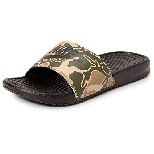 NIKE Herren Benassi JDI Print Sneakers, Mehrfarbig (Velvet Brown/Velvet Brown 202)