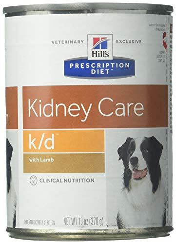 Hill's Prescription Diet k/d Kidney Care with Lamb Canned Dog Food 12/13 oz