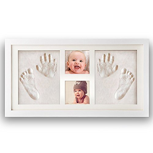 Premium Newborn Baby Hand Print and Footprint Photo Frame Kit - Cool & Unique Baby Shower Gifts for Registry, Memorable Keepsakes Decorations , Christening Gift, Toddlers Birthday Presents from ROYI