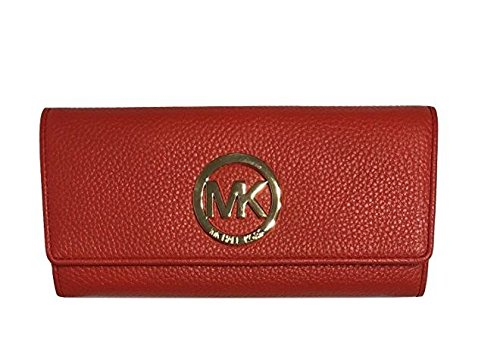 Wallet Continental Clutch (MICHAEL Michael Kors Fulton Flap Continental Clutch Wallet (Dark Sangria))