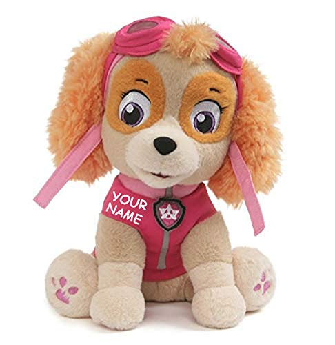 Personalized Rescue Pup Skye Aviation Puppy Character Plush Stuffed Animal Toy with Custom Name - 9 Inches by PersonalizedGUND